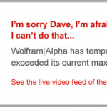 Search: 8 Reasons Why Wolfram Alpha is a Waste of Time and no Threat to Google