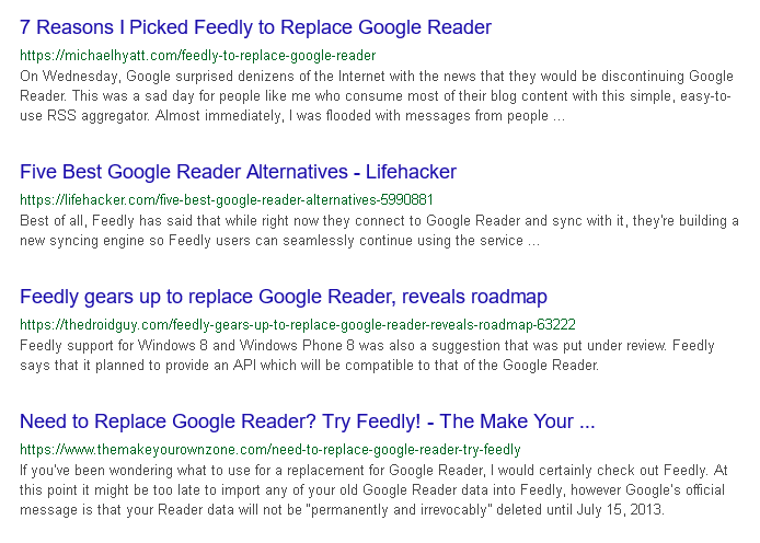Feedly replaces Google Reader - the Web seems to agree.