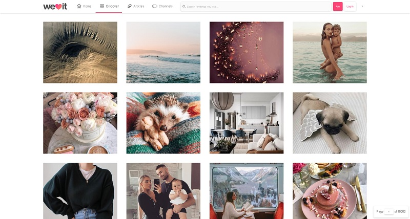 we heart it screenshot. A site full of cute and feminine images to get inspiration from.